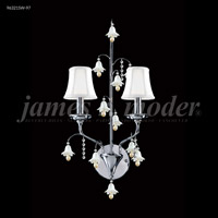 James R. Moder 96321S11W-97 Murano Collection 2 Light Silver Wall Sconce Wall Light