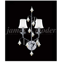 James R. Moder 96321S11W Murano 2 Light Silver Wall Sconce Wall Light