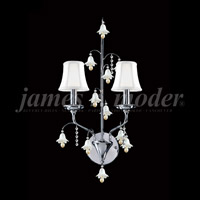 Silver Crystal Murano Wall Sconces