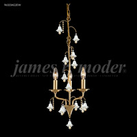 James R. Moder 96323AG22W Murano Collection 3 Light 12 inch Aged Gold Pendant Ceiling Light