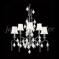 James R. Moder 96326S2SW-97 Murano Collection 6 Light 26 inch Silver Chandelier Ceiling Light