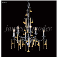 James R. Moder 96326S22W Murano Collection 6 Light 26 inch Silver Chandelier Ceiling Light