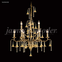 James R. Moder 96329AG00E Murano Collection 9 Light 28 inch Aged Gold Chandelier Ceiling Light