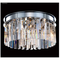James R. Moder 96334S22 Europa Collection 4 Light 12 inch Silver Flush Mount Ceiling Light