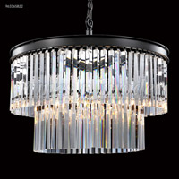 James R. Moder 96336S22 Europa Collection 8 Light 24 inch Silver Chandelier Ceiling Light