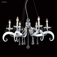 James R. Moder 96346S22 Europa Collection 6 Light 30 inch Silver Chandelier Ceiling Light