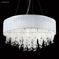 James R. Moder 96356S2W-74 Europa Collection 9 Light 22 inch Silver Chandelier Ceiling Light Round
