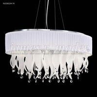 James R. Moder 96358S2W-74 Europa Collection 8 Light 18 inch Silver Chandelier Ceiling Light Oval