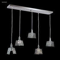 James R. Moder 96555S22 Butterfly 5 Light 6 inch Silver Crystal Chandelier Ceiling Light