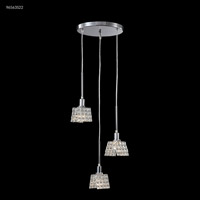 James R. Moder 96563S22 Butterfly Collection 3 Light 14 inch Silver Chandelier Ceiling Light