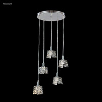 James R. Moder 96565S22 Butterfly 5 Light 18 inch Silver Crystal Chandelier Ceiling Light