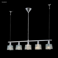 James R. Moder 96568S22 Fashionable Broadway Collection 5 Light 4 inch Silver Chandelier Ceiling Light