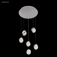 James R. Moder 96576S22LED Crystal Ice Collection LED 20 inch Silver Crystal Balls Ceiling Light