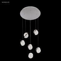 James R. Moder 96576S22LED Crystal Ice LED 20 inch Silver Crystal Chandelier Ceiling Light