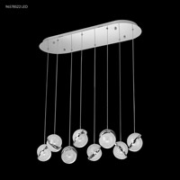 James R. Moder 96578S22LED Crystal Ice Collection LED 14 inch Silver Crystal Balls Ceiling Light
