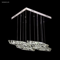 James R. Moder 96596S22LED Galaxy Collection LED 17 inch Silver Chandelier Ceiling Light