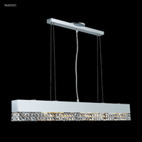 James R. Moder 96601S11 Fashionable Broadway Collection 6 Light 3 inch Silver Chandelier Ceiling Light