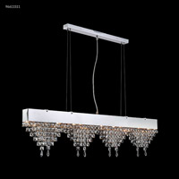 James R. Moder 96611S11 Fashionable Broadway Collection 6 Light 3 inch Silver Chandelier Ceiling Light