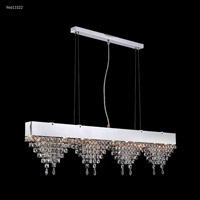 James R. Moder 96611S22 Fashionable Broadway Collection 6 Light 3 inch Silver Chandelier Ceiling Light