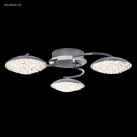 James R. Moder 96643S22LED Galaxy Collection LED 24 inch Silver Chandelier Ceiling Light