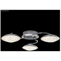 James R. Moder 96643S22LED Galaxy LED 24 inch Silver Crystal Chandelier Ceiling Light