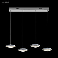 James R. Moder 96644S22LED Galaxy Collection LED 7 inch Silver Chandelier Ceiling Light