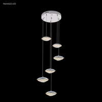 James R. Moder 96646S22LED Galaxy LED 17 inch Silver Crystal Chandelier Ceiling Light