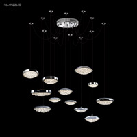 James R. Moder 96649S22LED Galaxy Collection LED 50 inch Silver Chandelier Ceiling Light