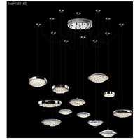 James R. Moder 96649S22LED Galaxy LED 50 inch Silver Crystal Chandelier Ceiling Light