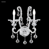 James R. Moder 96652S22 Pearl Collection 2 Light 16 inch Silver Chandelier Ceiling Light
