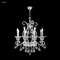 James R. Moder 96658S11 Pearl Collection 8 Light 28 inch Silver Chandelier Ceiling Light