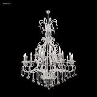 James R. Moder 96660S11 Pearl Collection 28 Light 51 inch Silver Chandelier Ceiling Light