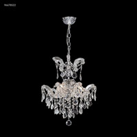 James R. Moder 96678S22 Maria Theresa Grand 3 Light 16 inch Silver Crystal Chandelier Ceiling Light