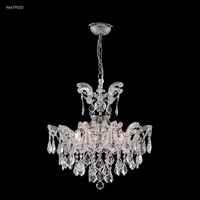 James R. Moder 96679S00 Maria Theresa Grand Collection 6 Light 21 inch Silver Semi Flush Crystal Chandelier Ceiling Light