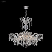 James R. Moder 96680S11 Maria Theresa Grand Collection 8 Light 32 inch Silver Semi Flush Crystal Chandelier Ceiling Light