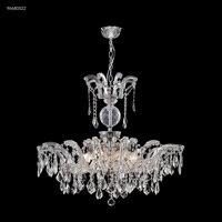 James R. Moder 96680S22 Maria Theresa Grand 8 Light 32 inch Silver Crystal Chandelier Ceiling Light
