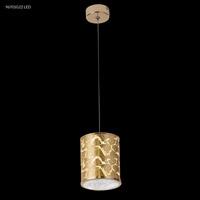 James R. Moder 96701G22LED Gold Leaf Collection 1 Light Gold Chandelier Ceiling Light