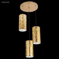 James R. Moder 96703G22LED Gold Leaf Collection 3 Light Gold Chandelier Ceiling Light
