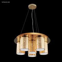 James R. Moder 96706G22LED Gold Leaf Collection 6 Light Gold Chandelier Ceiling Light