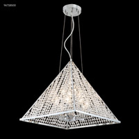 James R. Moder 96718S00 Pyramid Collection 12 Light 18 inch Silver Chandelier Ceiling Light