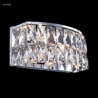 James R. Moder 96773S22 Zoe 2 Light 11 inch Silver Crystal Chandelier Ceiling Light