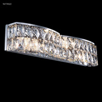 James R. Moder 96774S22 Vanity Light Collection 4 Light 22 inch Silver Vanity Light Wall Light