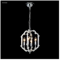 James R. Moder 96792S00 Lantern Collection 4 Light 10 inch Silver Chandelier Ceiling Light