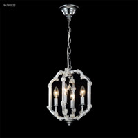 James R. Moder 96792S22 Lantern Collection 4 Light 10 inch Silver Chandelier Ceiling Light