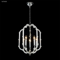 James R. Moder 96794S00 Lantern Collection 5 Light 16 inch Silver Chandelier Ceiling Light