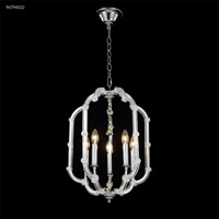 James R. Moder 96794S22 Lantern 5 Light 16 inch Silver Crystal Chandelier Ceiling Light