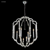James R. Moder 96796S00 Lantern Collection 8 Light 24 inch Silver Chandelier Ceiling Light