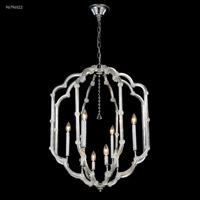 James R. Moder 96796S22 Lantern Collection 8 Light 24 inch Silver Chandelier Ceiling Light