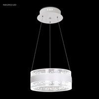 James R. Moder 96812W22LED Contemporary Collection LED 24 inch White Chandelier Ceiling Light