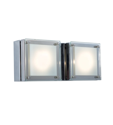 Chrome Metal Quattro Wall Sconces